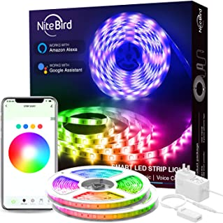 LED Strip Lights, Smart WiFi LED Lights 32.8ft Works with Alexa and Google Home, APP Control, 16 Million Colors, Music Sync, RGB Color Changing LED Strips for Bedroom, Home, TV, Kitchen, Party, Bar