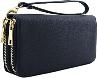 Double Zip Around Wristlet Wallet