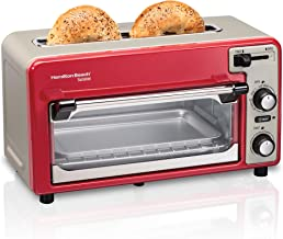 Hamilton Beach 2-in-1 Countertop Oven and 2-Slice Toaster with Extra Wide Slot, Shade..