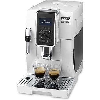 De'longhi Dinamica Ecam350.35.WH - Cafetera superautomática, 1450w, 15 bares presión, panel control intuitivo táctil lcd, personalización bebida, dispositivo cappuccino, blanco