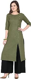 Florence Women's Cotton Straight Salwar Suit Set (FL-KT-121-PZ-06(L)_Green_XX-Large)