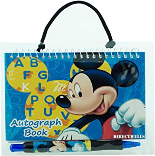 Disney Mickey Mouse Blue Autograph Book with 1 Retractable Pen