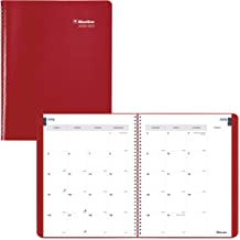 Blueline Monthly Academic Planner, 14-Month, July 2020 to August 2021, Twin-Wire Binding, 11 X 8.5 Inches, Red (CA701.RED-21)