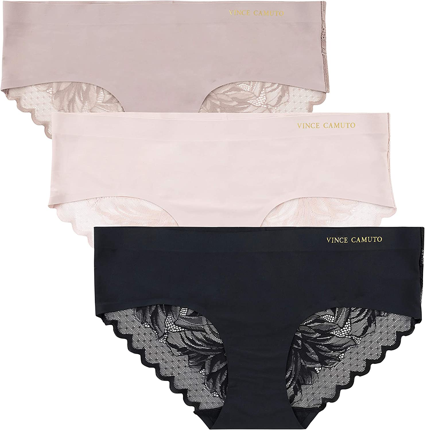 Vince Camuto Women's No Show Seamless Hipster Panty Multi-Pack Underwear at  Women's Clothing store