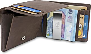 TRAVANDO Portafoglio uomo sottile con Clip per Contanti BRISBANE Protezione RFID Porta carte di credito Portafogli Porta t...