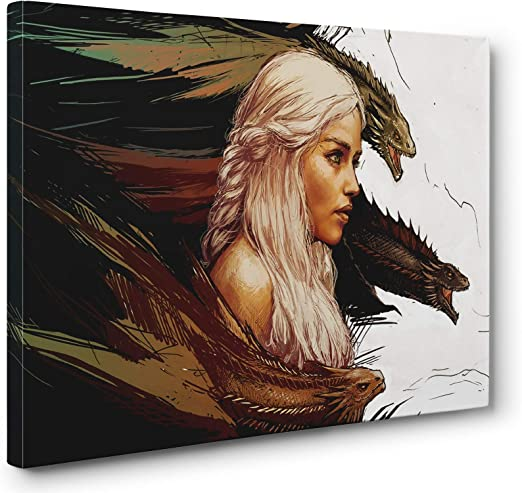 Daenerys Game of thrones HD Canvas Print Painting Home decor Wall art Picture