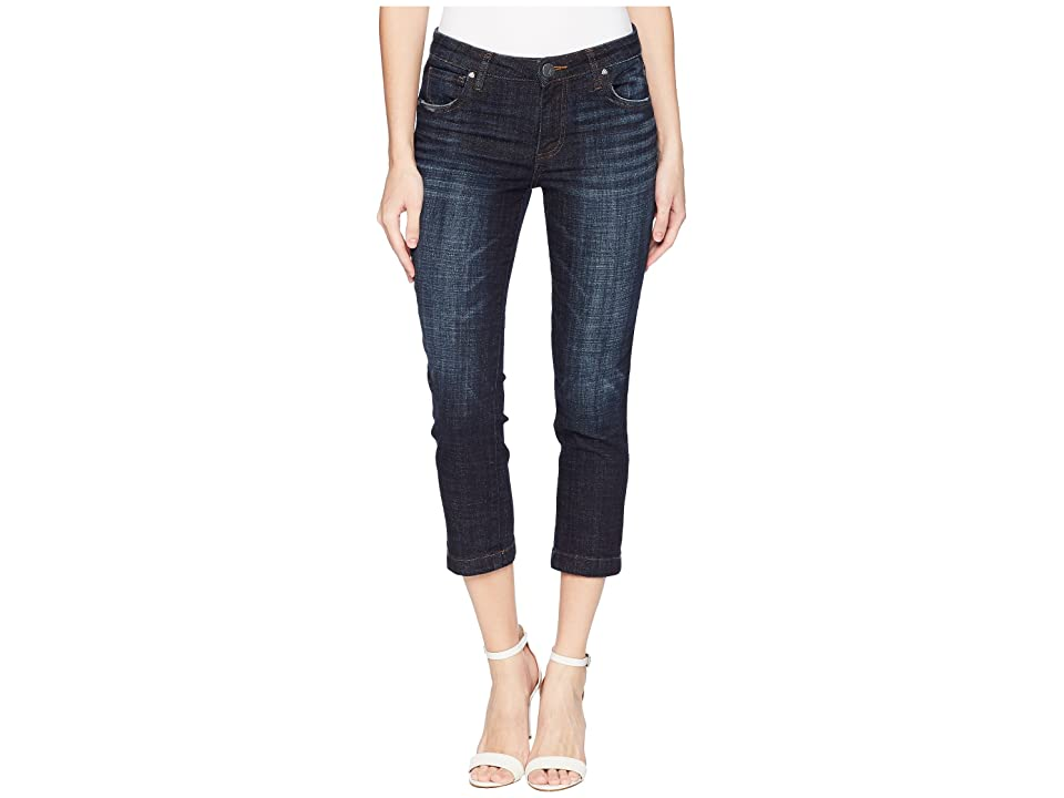 KUT from the Kloth Lauren Crop Straight Leg with Wide in Cultivated (Cultivated) Women