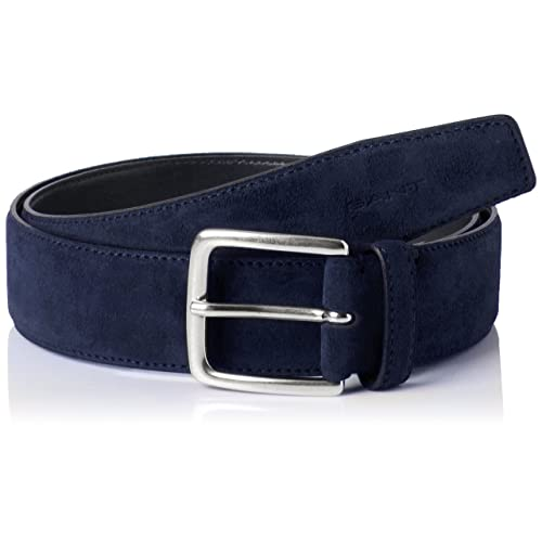 f4ce469d6 Navy Blue Suede Belt  Amazon.co.uk