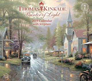 Thomas Kinkade Painter of Light with Scripture 2019 Deluxe Wall Calendar
