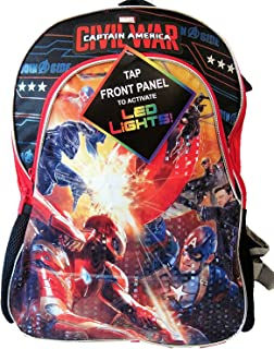 Marvel Captain America Civil War Backpack with LED Lights