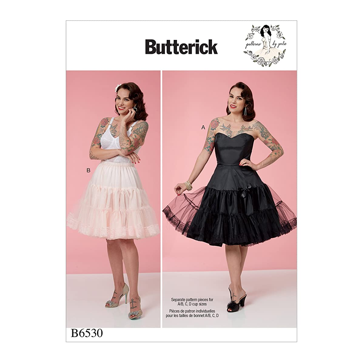 Butterick Patterns B6530A50 Misses' Full Slip and Petticoat A5 (6-8-10-12-14)