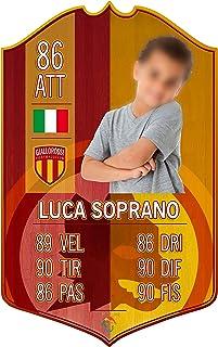 Adesivo Murale - Card Personalizzata FUT Player - Roma - Plug Calcio Soccer Cameretta Idea Regalo Squadra del Cuore Calcia...