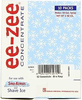 Snappy Popcorn EZ Concentrate10 Pouch Junior Carton, Blue Raspberry, 3 Pound