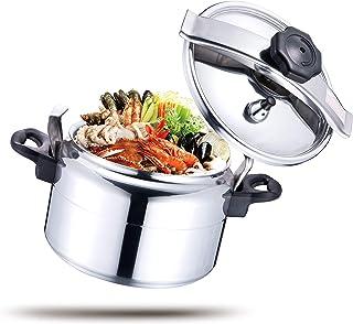HTH 3L Pressure Cooker Aluminum for Household, Super-pressure Cooker Secure Cookerware, Silver
