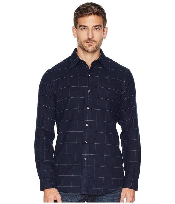 Polo Ralph Lauren Flannel Sports Shirt (Deep Navy/Grey Heather) Men