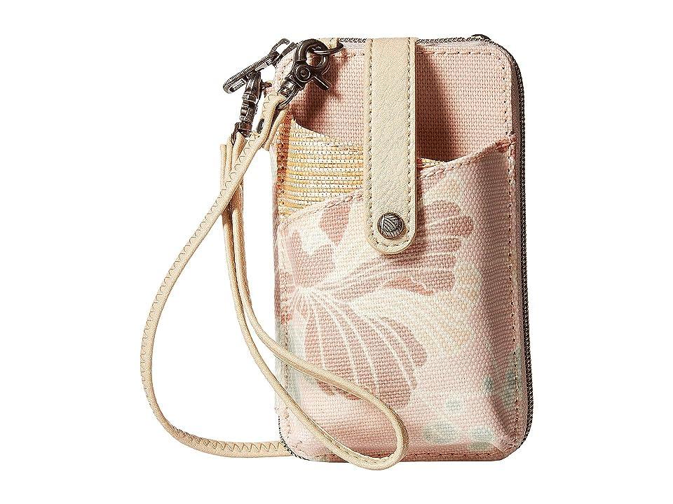 Sakroots Artist Circle Smartphone Wristlet (Petal Pink Flower Blossom) Wristlet Handbags