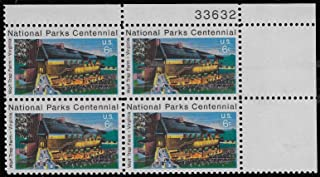 USA 1972 6-Cent Wolf Trap Farm National Parks Centennial Plate Block of 4 Postage Stamps, Catalog No 1452