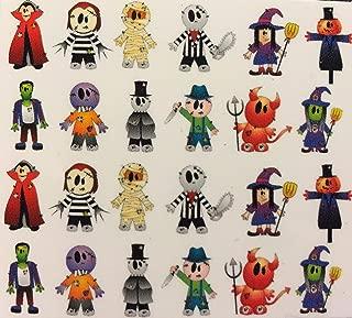 Halloween Mummy Witch Devil Scarecrow Zombie Decal Stickers Nail Art