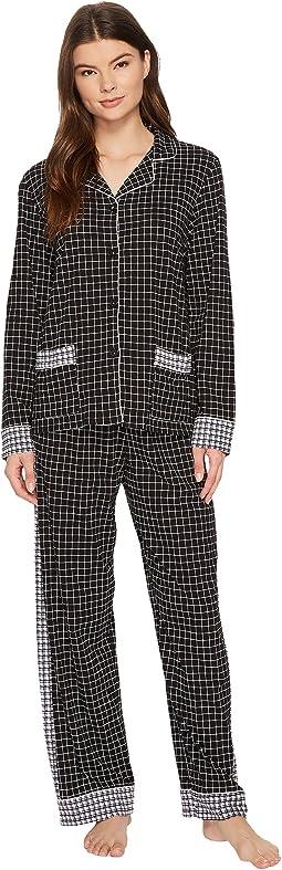 DKNY - Folded Jersey Notch Collar PJ