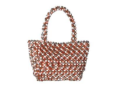 Loeffler Randall Mina Beaded Tote (Blush/Multi) Tote Handbags