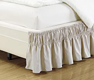 Fancy Collection Queen- King Easy Fit Bed Ruffle wrap Around Elastic Bed Skirt With 17