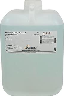 Reagents C7101080-20E3 Hydrochloric Acid, 1.0N Standardized, Grade, 20 L