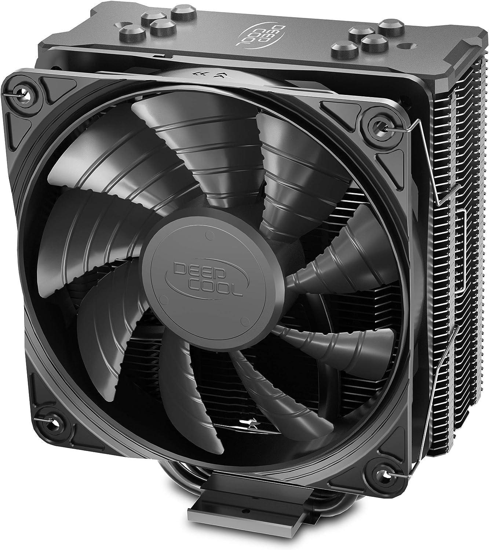 DEEP COOL GAMMAXX GTE V2 Negro, Disipador de CPU, con 4 Tubos de Calor, un 120 mm CPU Ventilador PWM Negro, Compatible con Intel/AMD