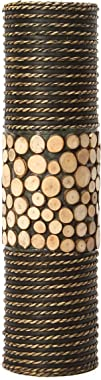 """Hosley's Natural Cylinder Tall Floor Vase 20"""" High. Ideal Gift for Weddings, Home, Nautical Party, Spa, Meditation, Nautical/"""
