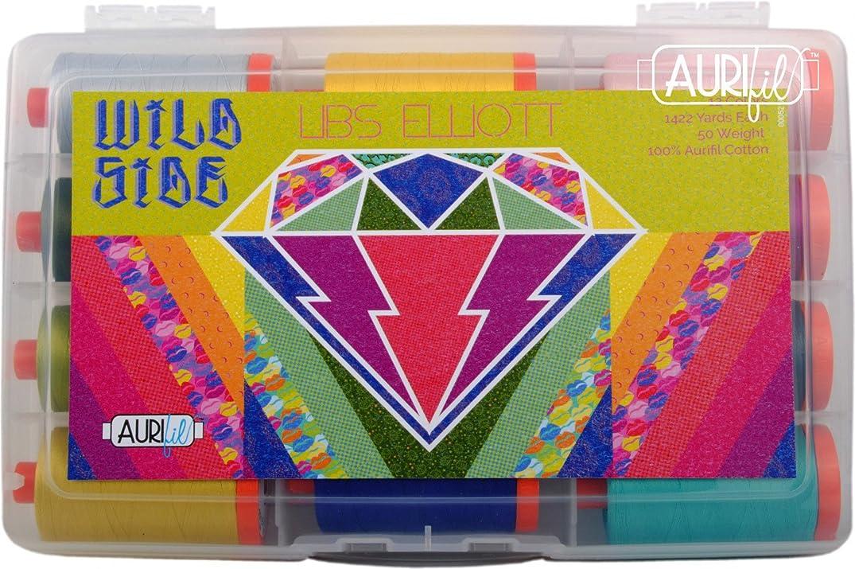 Libs Elliot Wild Side Aurifil Thread Kit 12 Large Spools 50 Weight LE50WS12
