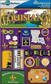 Jet Setters Dimensional Stickers-Louisiana