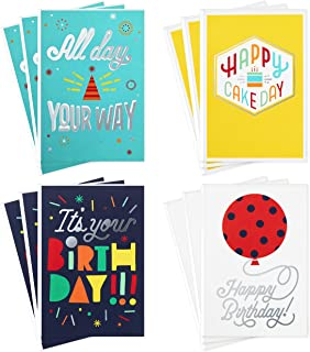 Hallmark Birthday Cards Assortment, Happy Cake Day (12 Cards with Envelopes)