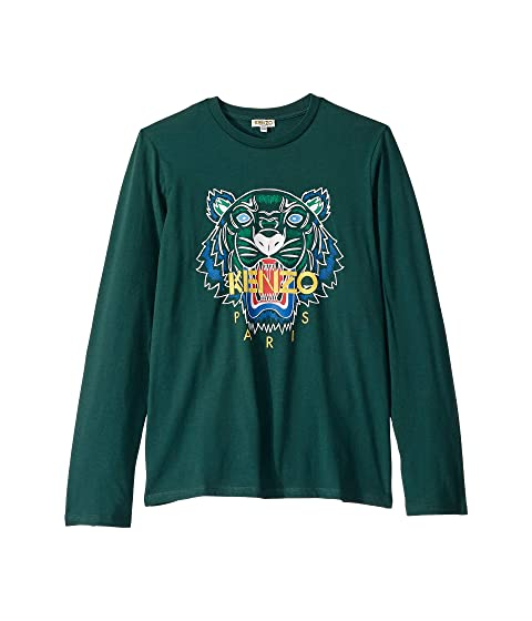 Kenzo Kids Tiger Long Sleeve T-Shirt (Big Kids)