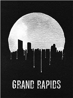 Trademark Fine Art Grand Rapids Skyline Black by Naxart, 14x19, Multiple