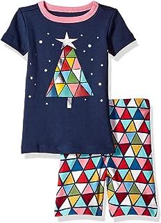 Baby Girls 2-Piece Tight Fit Sleeve Short Bottoms Pajama Set