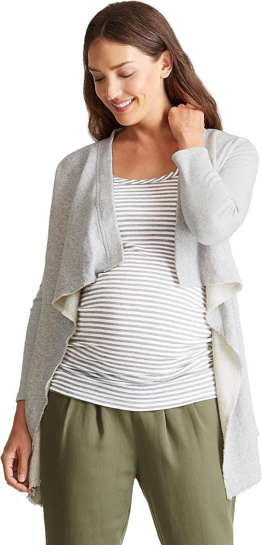 Ingrid & Isabel Women's Maternity Drape Front Cardigan