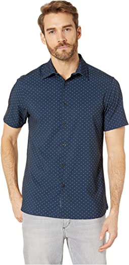 Slim Fit Total Stretch Micro Motif Shirt
