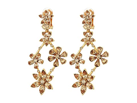 Oscar de la Renta Crystal Star Chandelier C Earrings