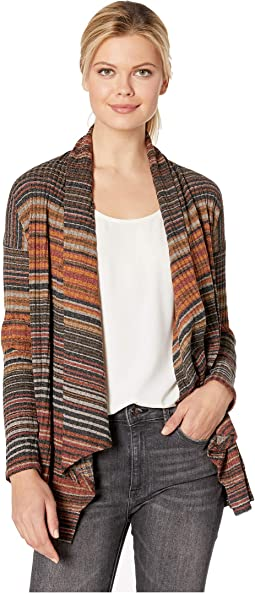 Striped Rib Cardigan