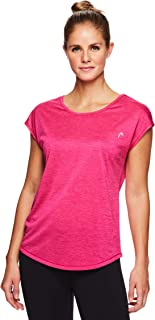HEAD Women's Open Back Short Sleeve Workout T Shirt - Performance Scoop Neck Activewear Top