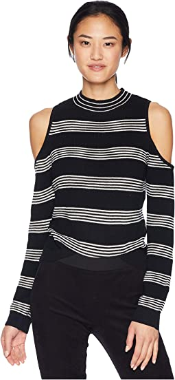 Some Like It Hot Cold Shoulder Sweater