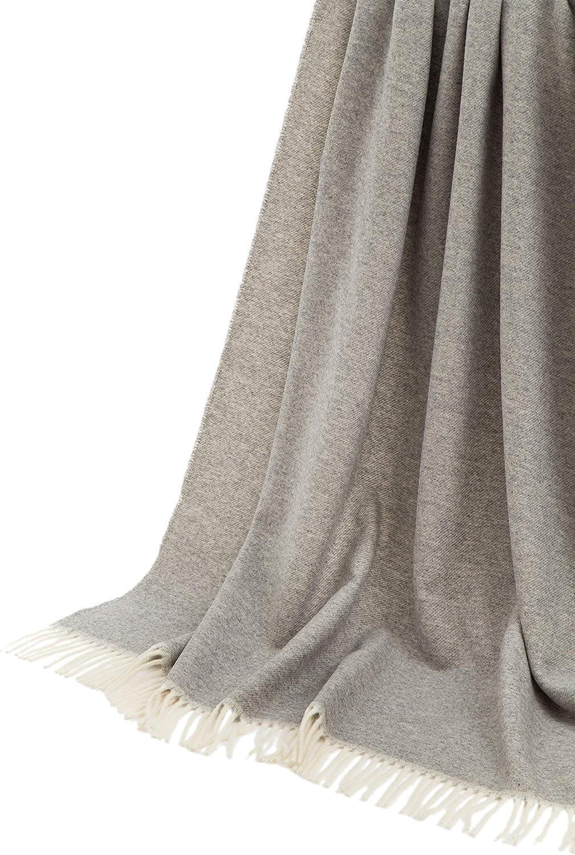 Plaid Saturno Spina 130x180 cm 20/% Cashmere 80/% Lana Merinos Superfine Antracite Herringbone LANEROSSI