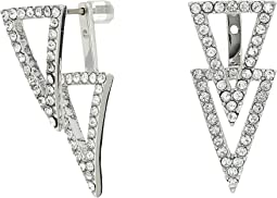 Triangle Front Back Earrings
