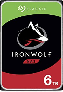 Seagate IronWolf 6TB NAS Internal Hard Drive HDD – CMR 3.5 Inch SATA 6Gb/s 5600 RPM 256MB Cache for RAID Network Attached ...