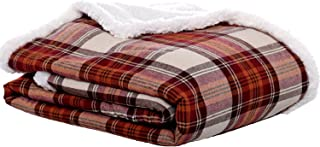 Eddie Bauer | Flannel Collection | Throw Blanket-Reversible Sherpa Fleece Cover, Soft & Cozy, Perfect for Bed or Couch, Ed...