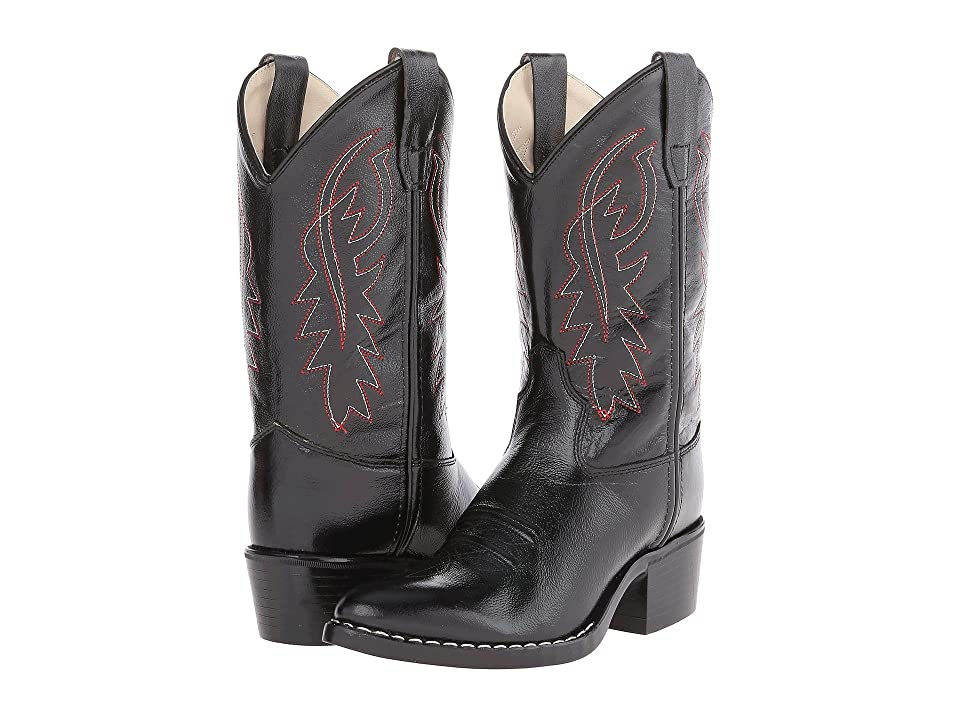 Old West Kids Boots J Toe Western Boot (Toddler/Little Kid) (Black) Cowboy Boots