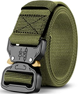 Men's Adjustable Tactical Belt, Strong Quick Release Heavy Duty Tactical Belt for Men