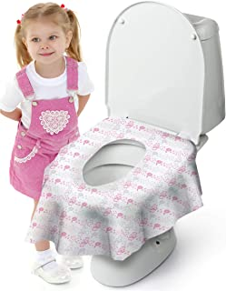 Cadily Princess Potty Protectors: 20-Count Disposable Toilet Seat Covers for Kids | Disposable Potty Seat Covers | Finally A Toilet Seat Cover That Completely Covers Any Toilet | Perfect for Travel
