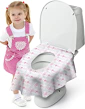 Cadily Princess Potty Seat Protectors: 20pack Disposable Toilet Seat Covers   Potty Liners Disposable   Finally A Toilet Seat Cover That Completely Covers Any Toilet   Travel Potty Seat For Toddler