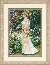 Dimensions Gold Collection In Her Garden - Kit de punto de cruz, diseño de mujer en el jardín (28 x 41 cm)