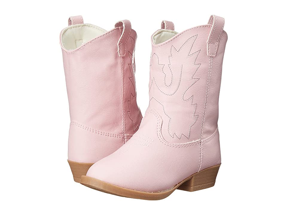 Baby Deer Western Boot (Infant/Toddler/Little Kid) (Pink) Cowboy Boots